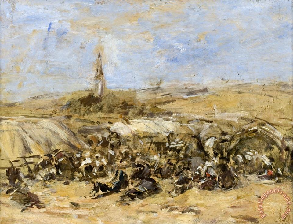 Pardon of Ste Anne La Palud painting - Eugene Boudin Pardon of Ste Anne La Palud Art Print