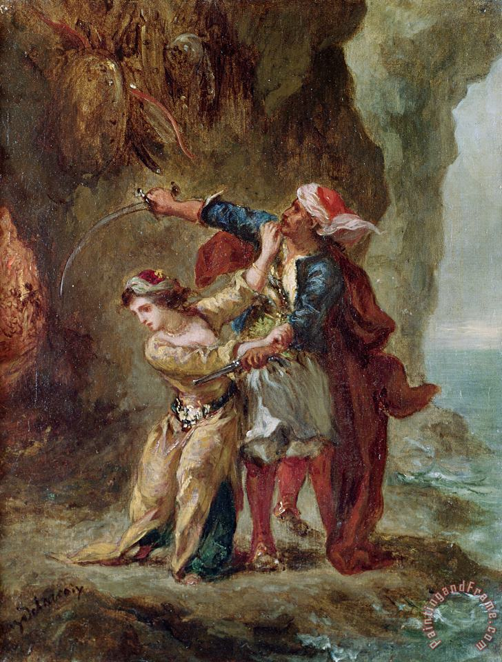 Eugene Delacroix The Bride of Abydos Art Painting
