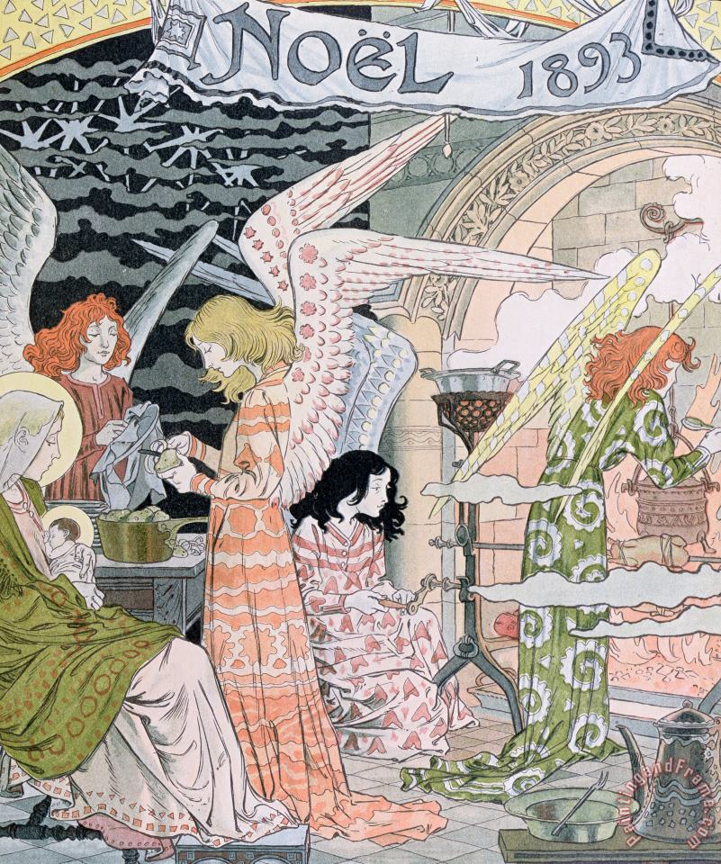Eugene Grasset The Angels Kitchen Art Painting