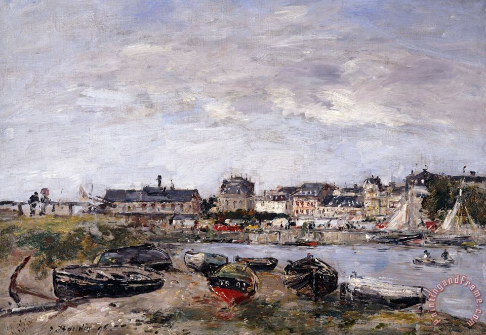 Trouville View Toward Deauville On Market Day painting - Eugene Louis Boudin Trouville View Toward Deauville On Market Day Art Print