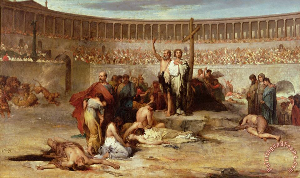 Triumph of Faith Christian Martyrs in the Time of Nero painting - Eugene Romain Thirion Triumph of Faith Christian Martyrs in the Time of Nero Art Print