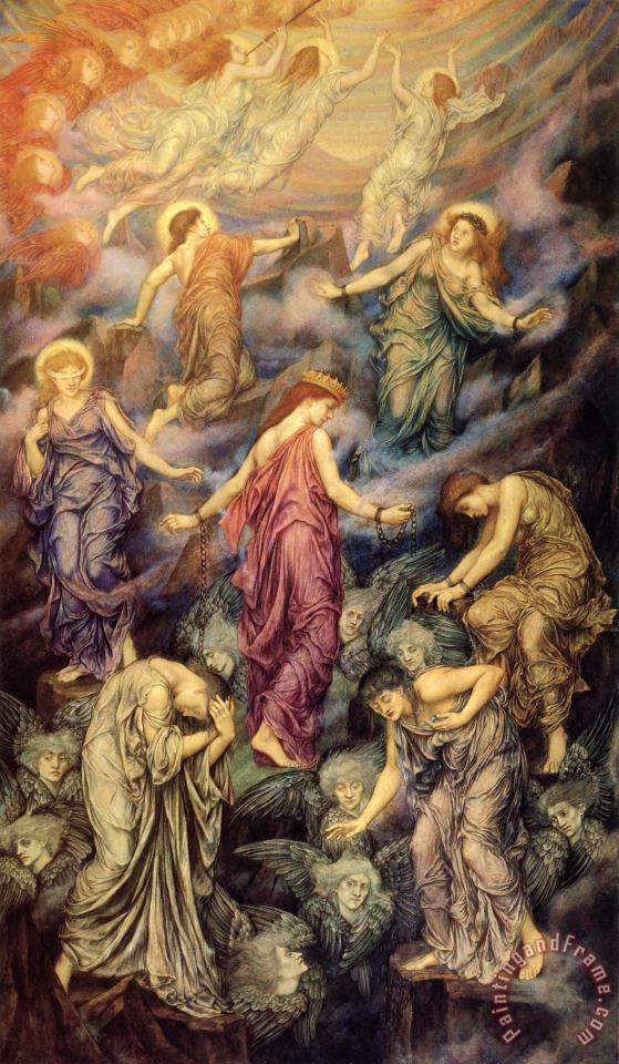 Evelyn De Morgan Kingdom of Heaven Art Painting