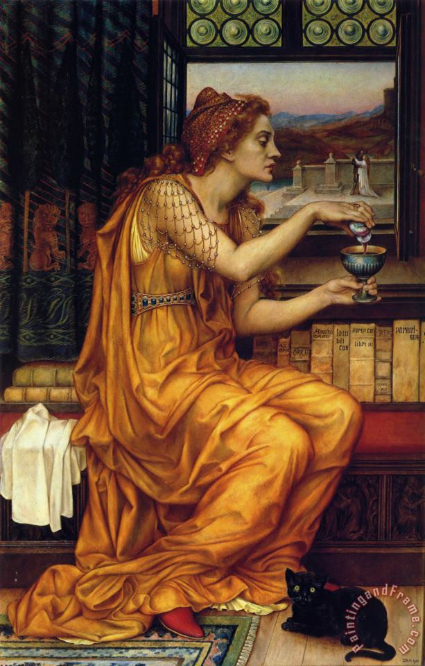 The Love Potion painting - Evelyn De Morgan The Love Potion Art Print