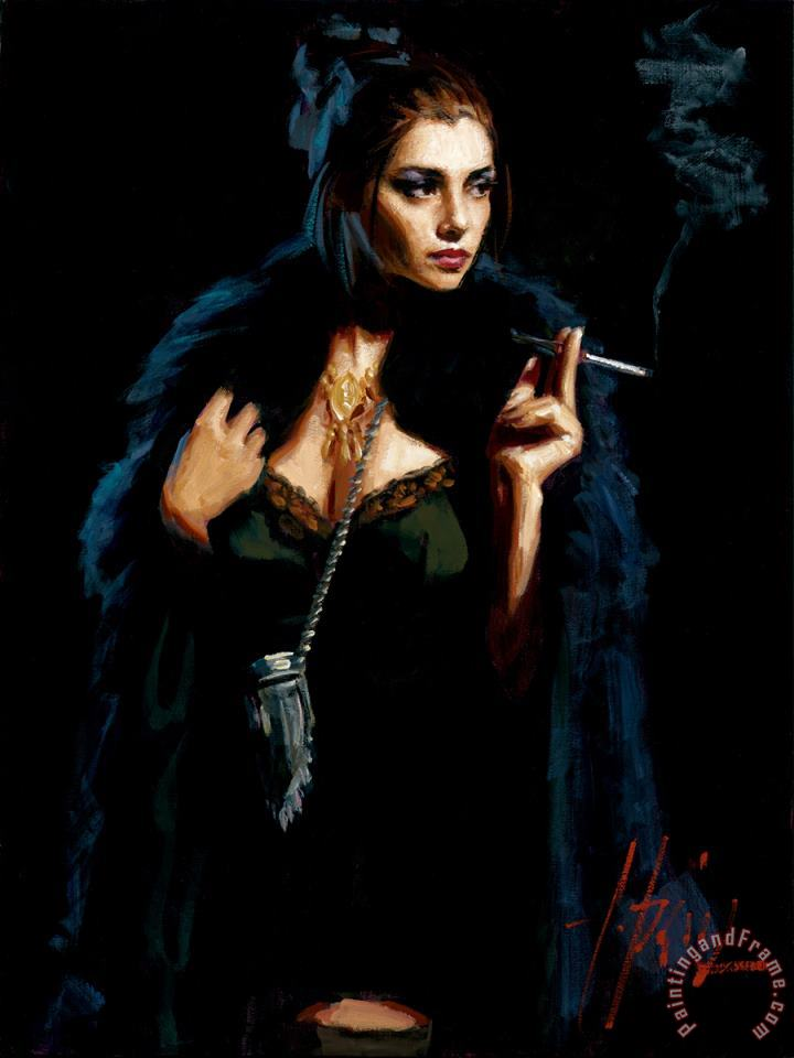 Blue Rabbit II painting - Fabian Perez Blue Rabbit II Art Print