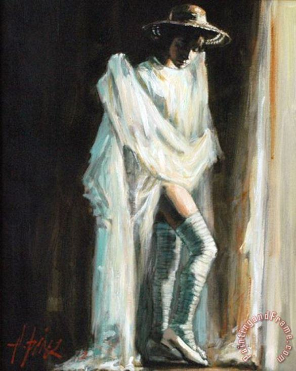 Catalina by The Window painting - Fabian Perez Catalina by The Window Art Print