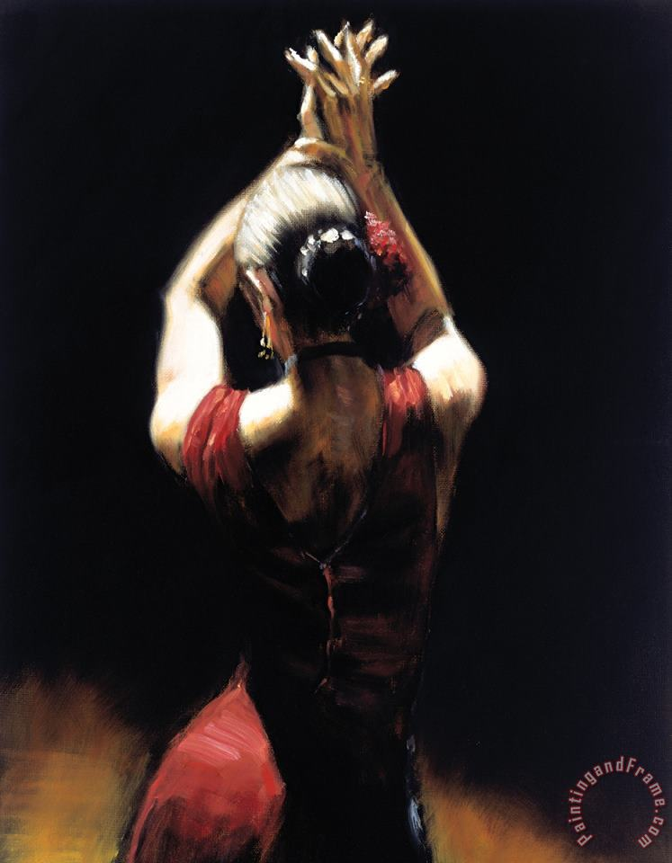 Flamenco Dancer painting - Fabian Perez Flamenco Dancer Art Print
