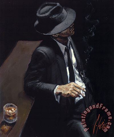 Study for Man in Black Suit II painting - Fabian Perez Study for Man in Black Suit II Art Print