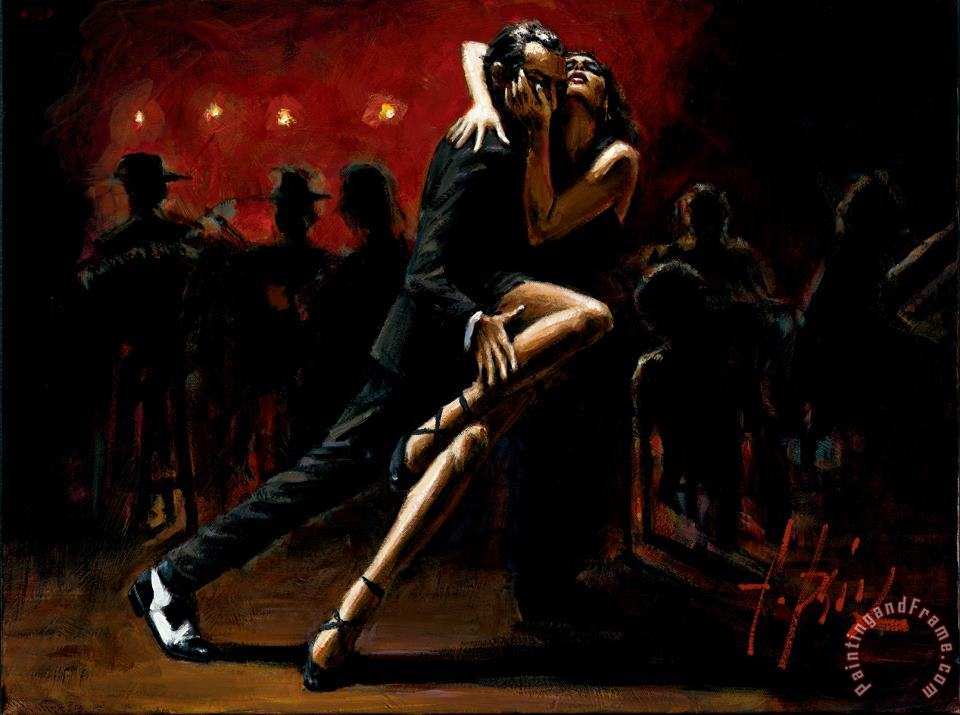 Tango in Red painting - Fabian Perez Tango in Red Art Print