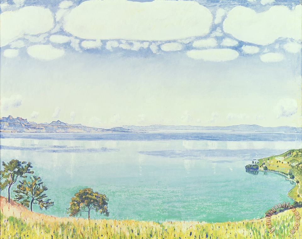 View of Lake Leman from Chexbres painting - Ferdinand Hodler View of Lake Leman from Chexbres Art Print