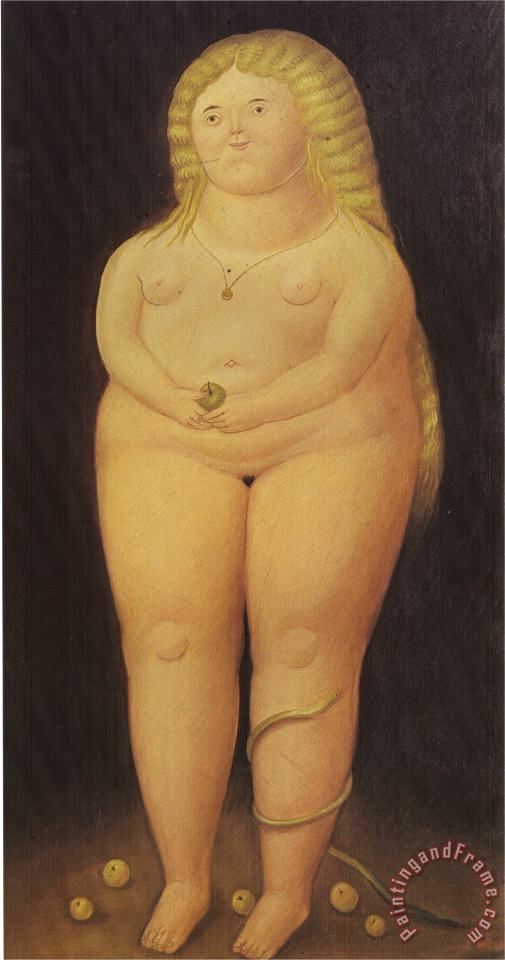 fernando botero Adam And Eve Eve Art Painting