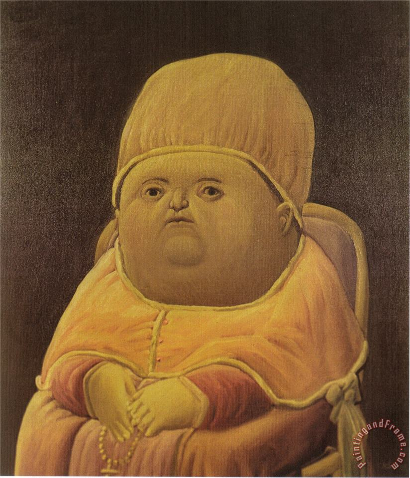 Pope Leo X After Raphael painting - fernando botero Pope Leo X After Raphael Art Print