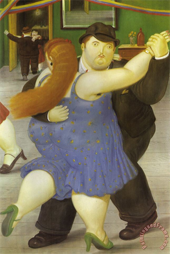 The Dancers painting - fernando botero The Dancers Art Print