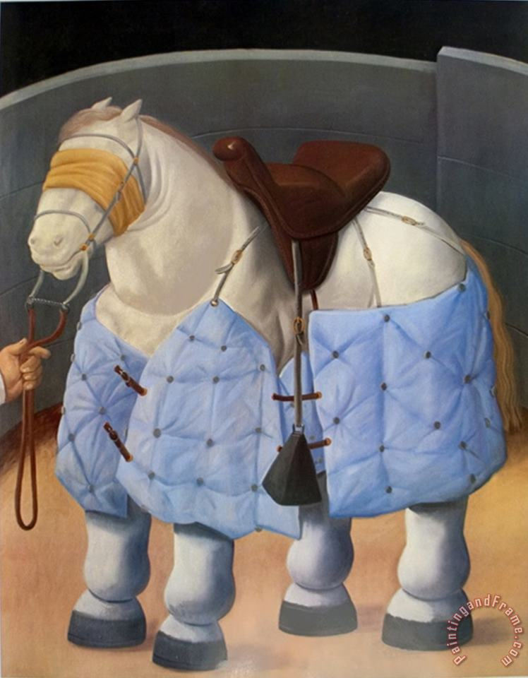 The Horse painting - fernando botero The Horse Art Print