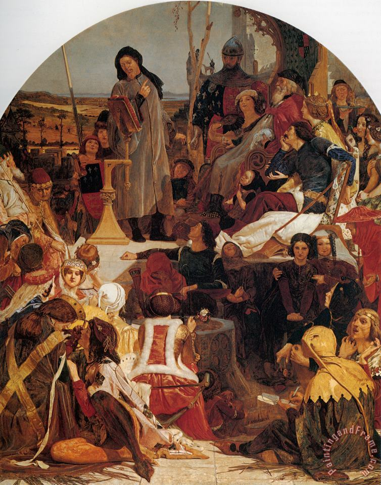 Ford Madox Brown Chaucer at The Court of Edward III Art Painting