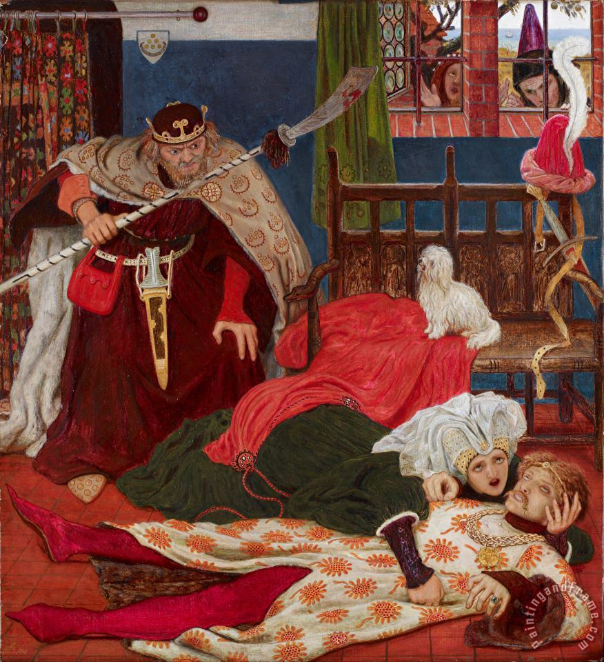 Death of Sir Tristram painting - Ford Madox Brown Death of Sir Tristram Art Print