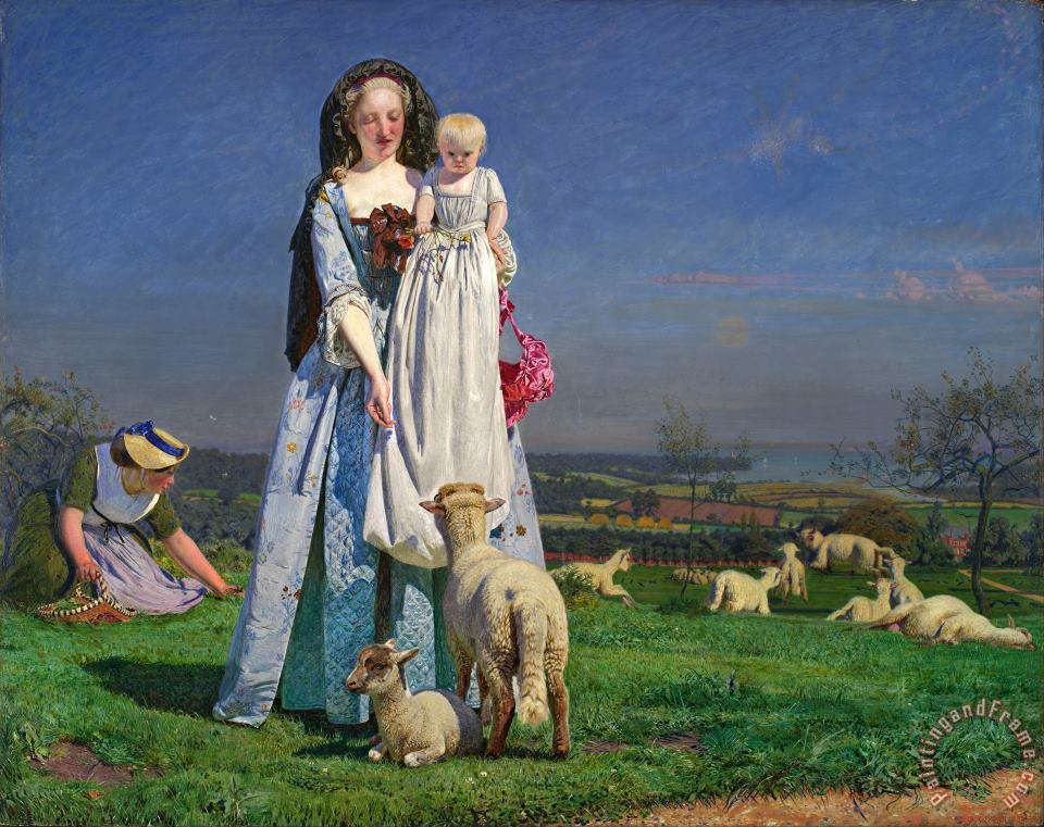 Ford Madox Brown Pretty Baa Lambs Art Painting
