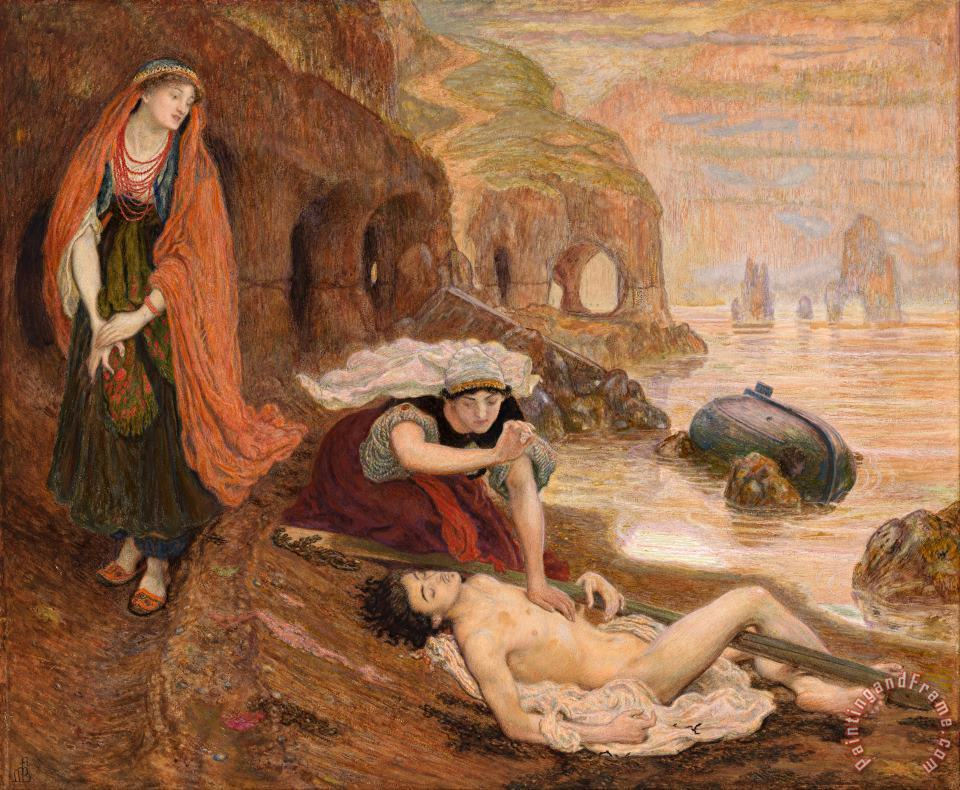 Ford Madox Brown The Finding of Don Juan by Haidee Art Print