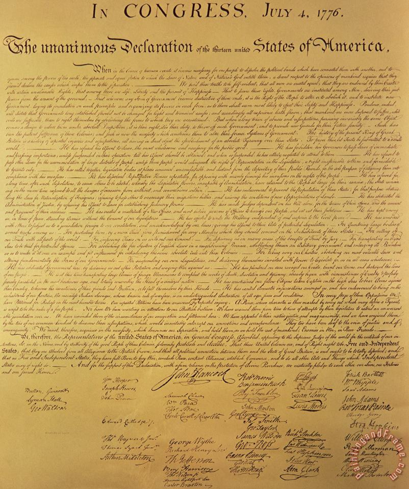 The Declaration of Independence painting - Founding Fathers The Declaration of Independence Art Print