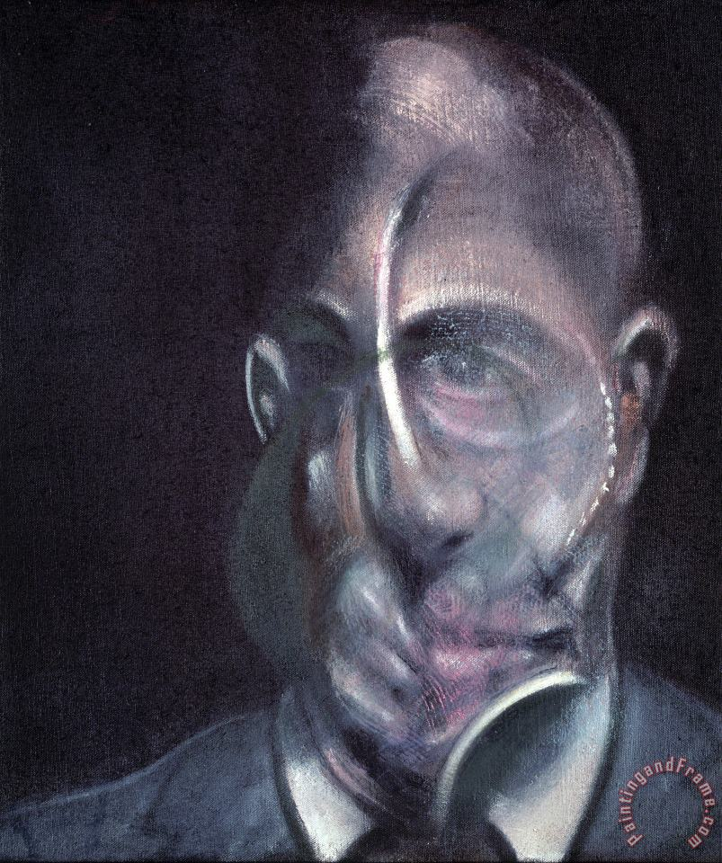 Portrait of Michel Leiris, 1976 painting - Francis Bacon Portrait of Michel Leiris, 1976 Art Print