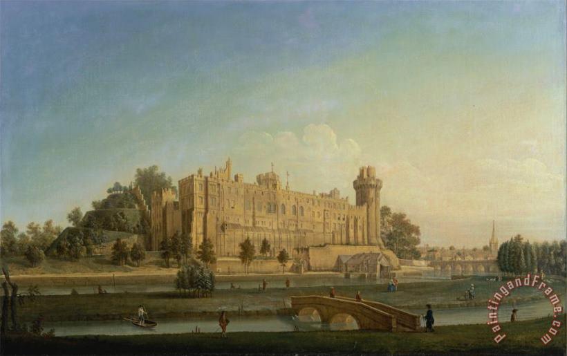 Francis Harding Warwick Castle Painting - Warwick Castle Print For