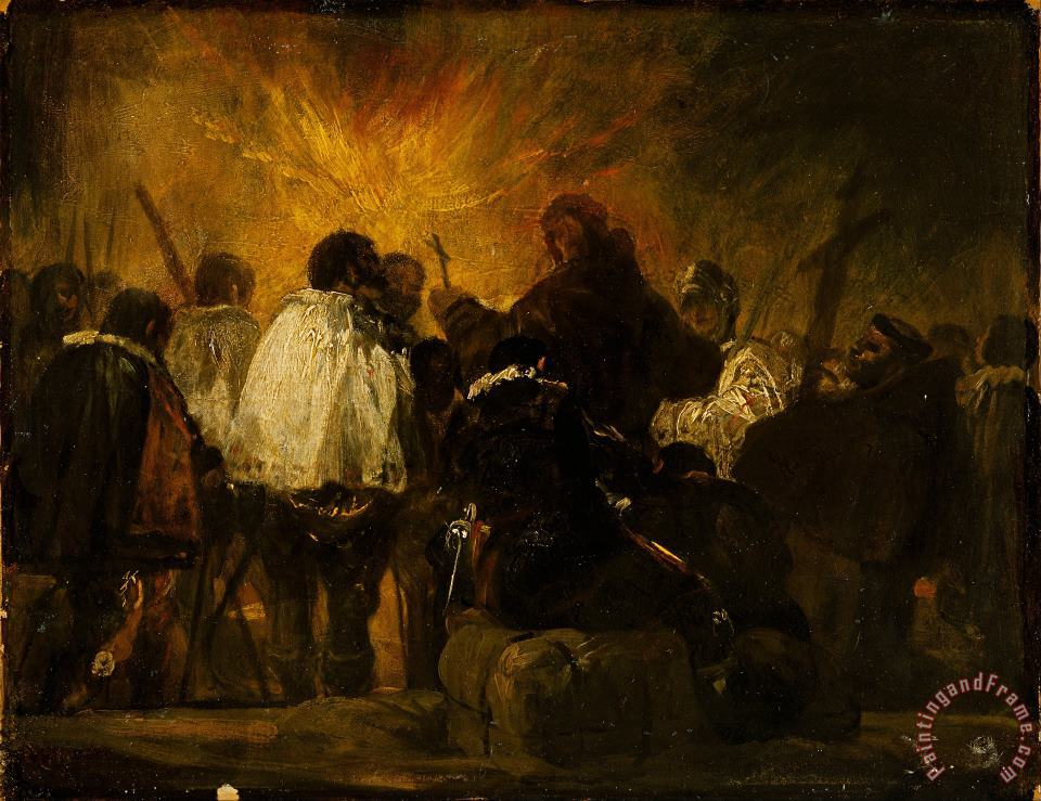 Night Scene From The Inquisition painting - Francisco De Goya Night Scene From The Inquisition Art Print