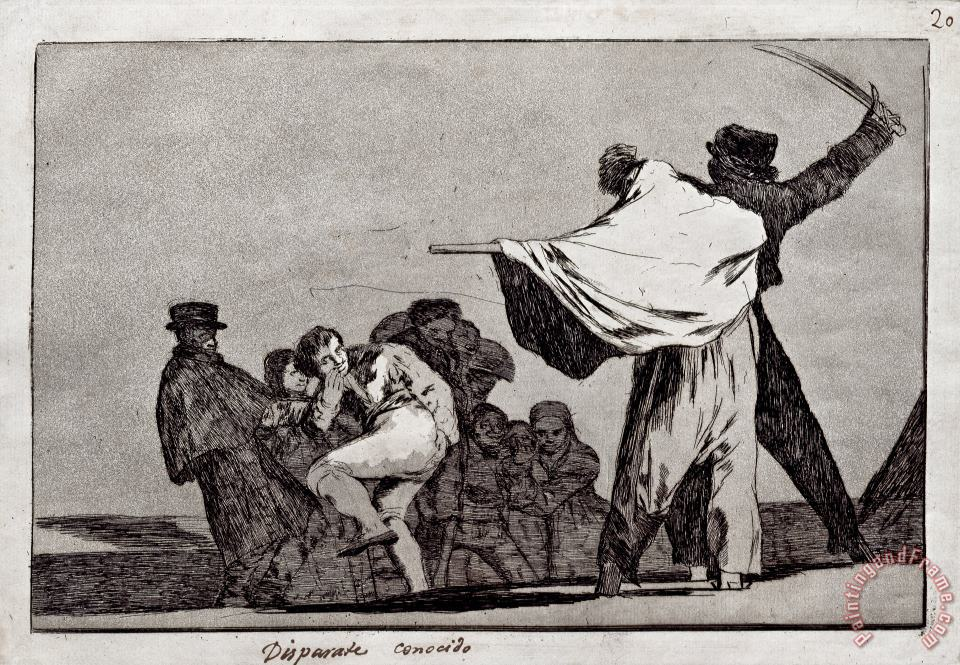 Well Know Folly painting - Francisco De Goya Well Know Folly Art Print