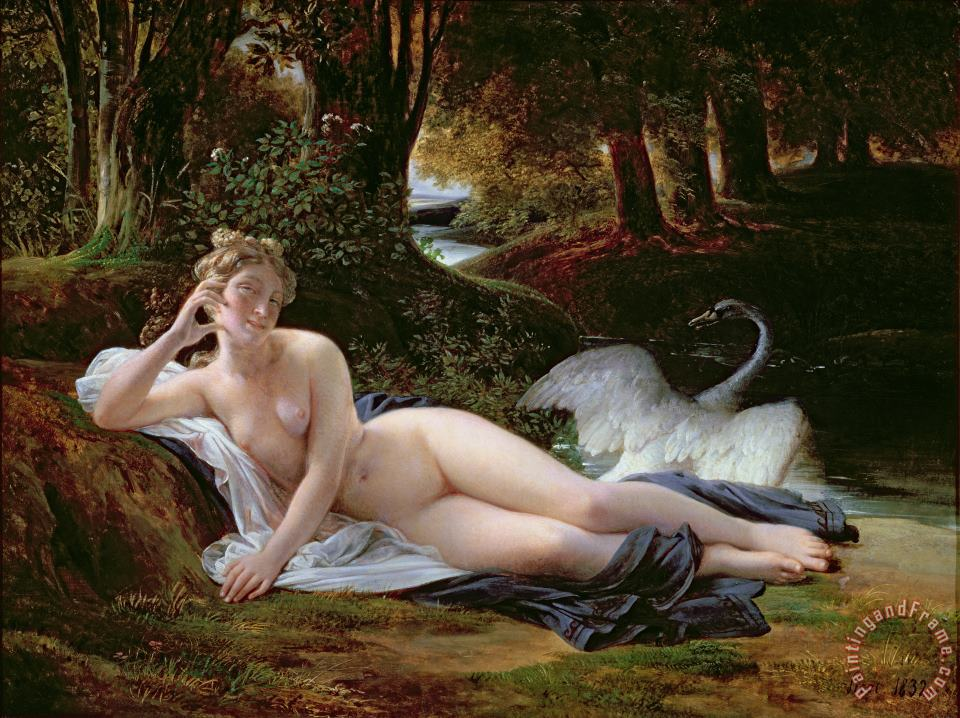 Francois Edouard Picot Leda and the Swan Art Print