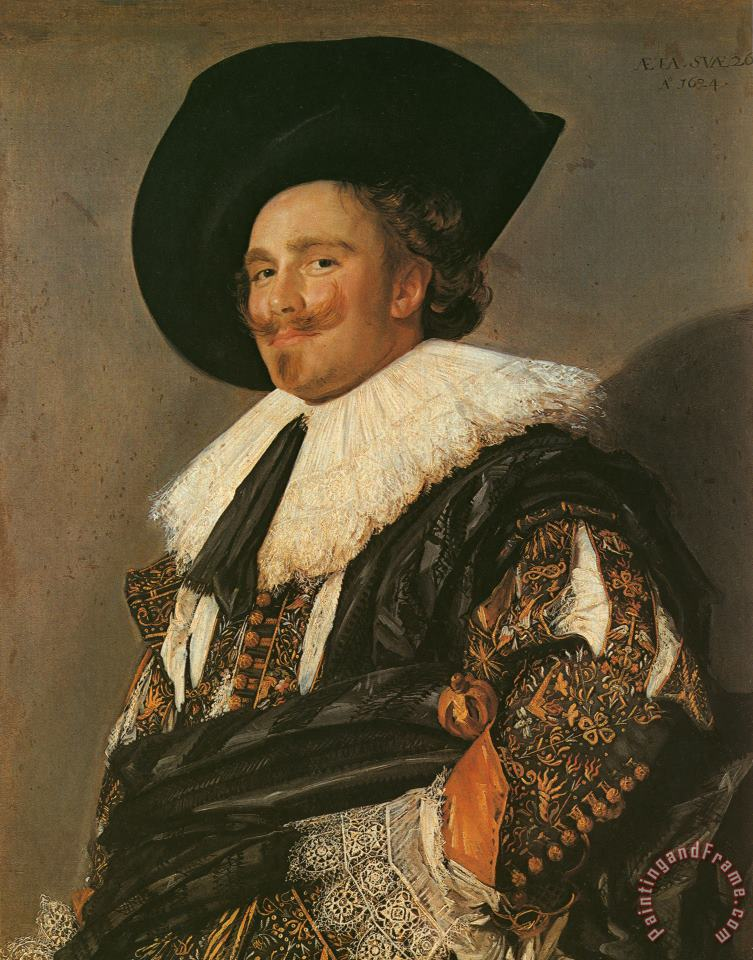 The Laughing Cavalier painting - Frans Hals The Laughing Cavalier Art Print