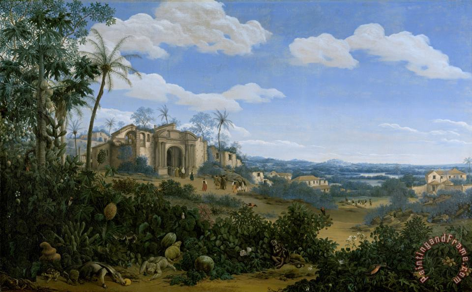 View of Olinda, Brazil painting - Frans Jansz Post View of Olinda, Brazil Art Print