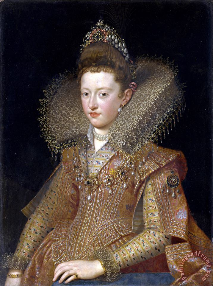 Frans Pourbus The Younger Margherita Gonzaga, Duchess of Lorraine Art Print