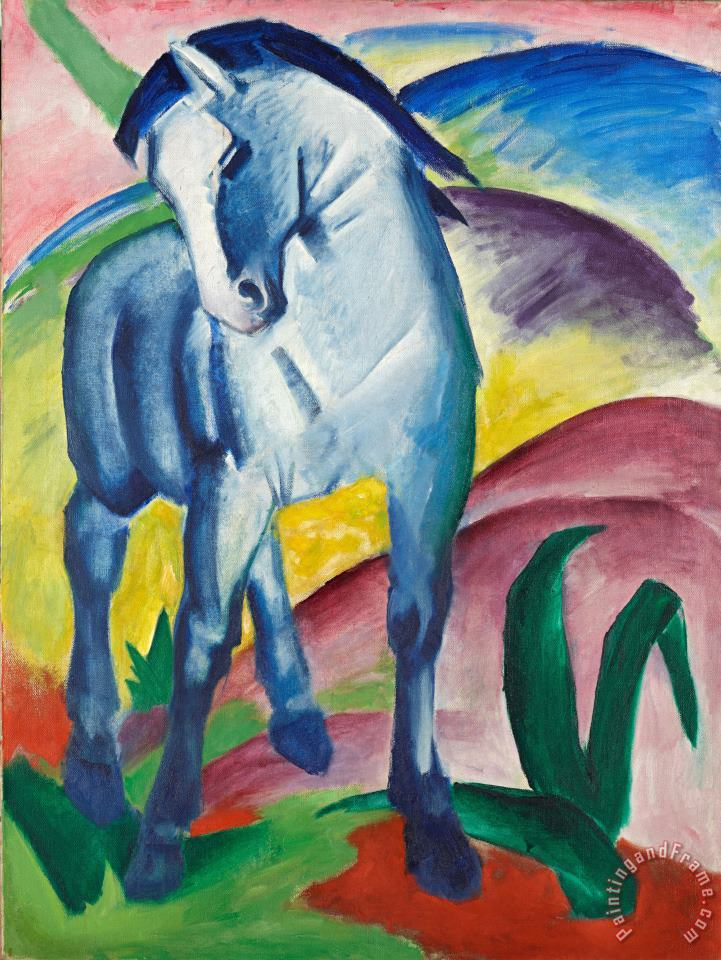 Franz Marc Blue Horse I 1911 Art Painting