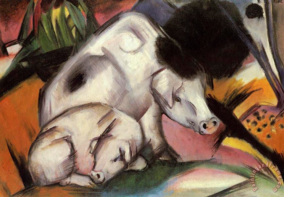 Franz Marc Pigs Art Painting