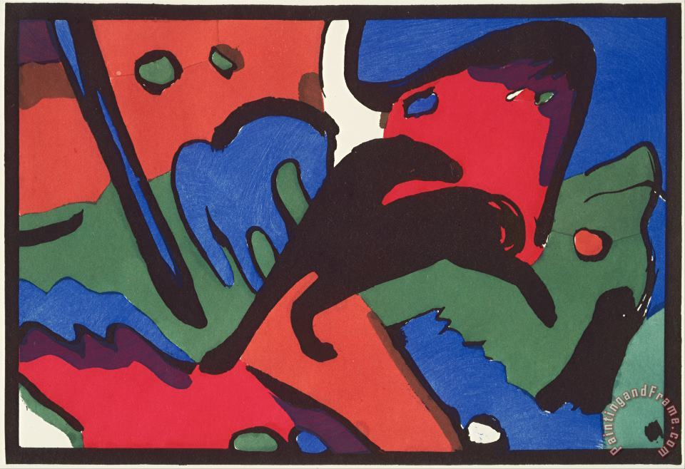 Franz Marc And Wassily Kandinsky, Published by R. Piper & Co Der Blaue Reiter (the Blue Rider) Art Painting