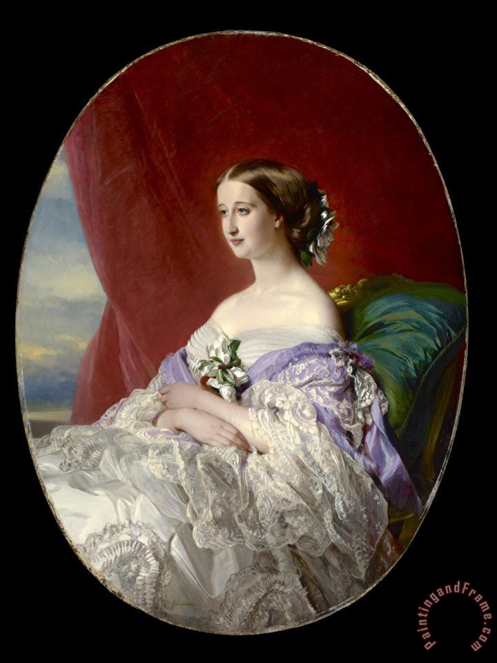 Empress Eugenie painting - Franz Xaver Winterhalter Empress Eugenie Art Print