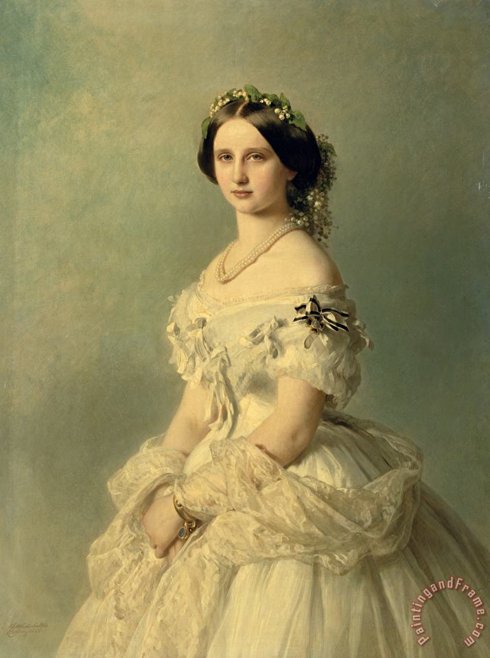 Portrait of Princess of Baden painting - Franz Xaver Winterhalter Portrait of Princess of Baden Art Print