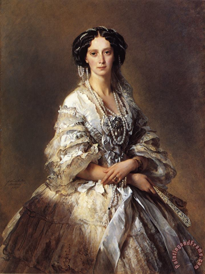 The Empress Maria Alexandrovna of Russia painting - Franz Xavier Winterhalter The Empress Maria Alexandrovna of Russia Art Print