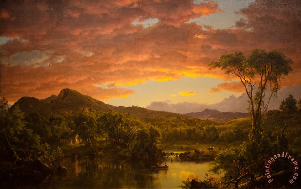 A Country Home painting - Frederic Edwin Church A Country Home Art Print