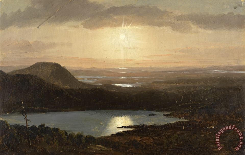 Frederic Edwin Church Eagle Lake Viewed From Cadillac Mountain, Mount Desert Island, Maine Art Print