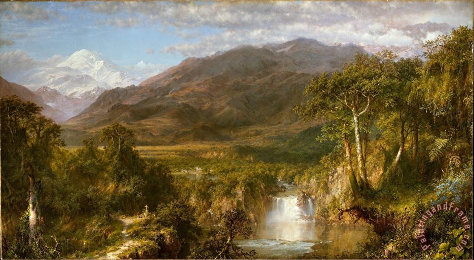 Frederic Edwin Church The Heart of The Andes Art Print