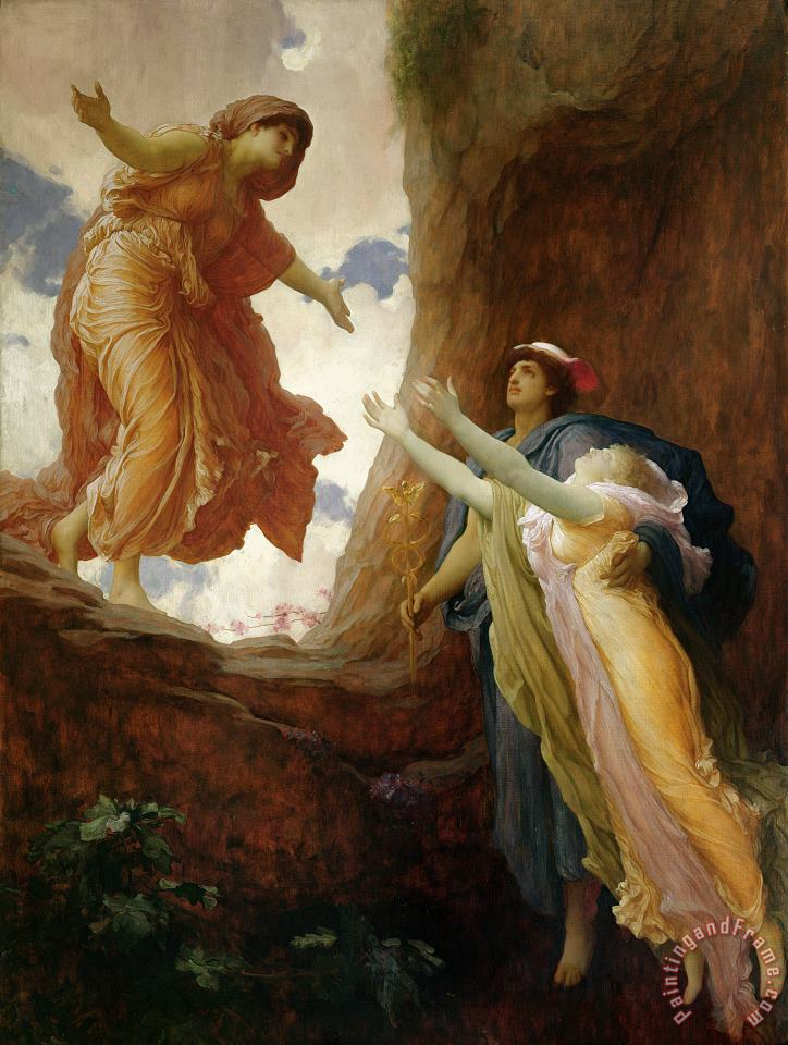 The Return of Persephone painting - Frederic Leighton The Return of Persephone Art Print