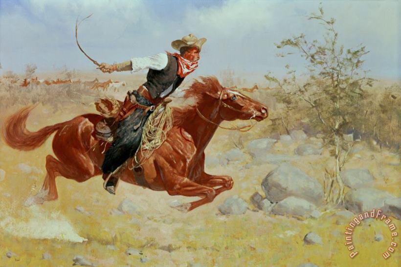 PW0 WESTERN ART POSTER The Cowboy PRINT IMAGE PHOTO Frederic Remington NEW