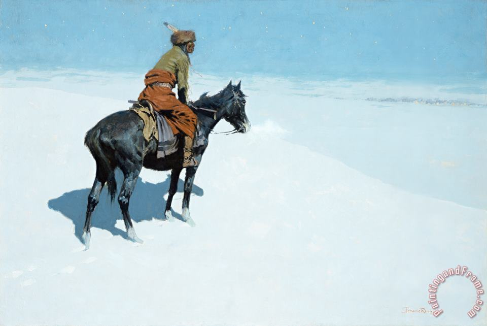 The Scout Friends or Foes painting - Frederic Remington The Scout Friends or Foes Art Print