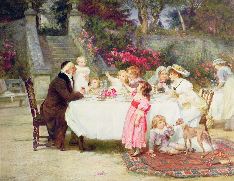 Frederick Morgan His First Birthday Art Painting