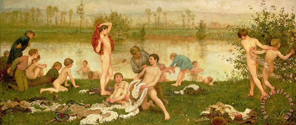 The Bathers painting - Frederick Walker The Bathers Art Print