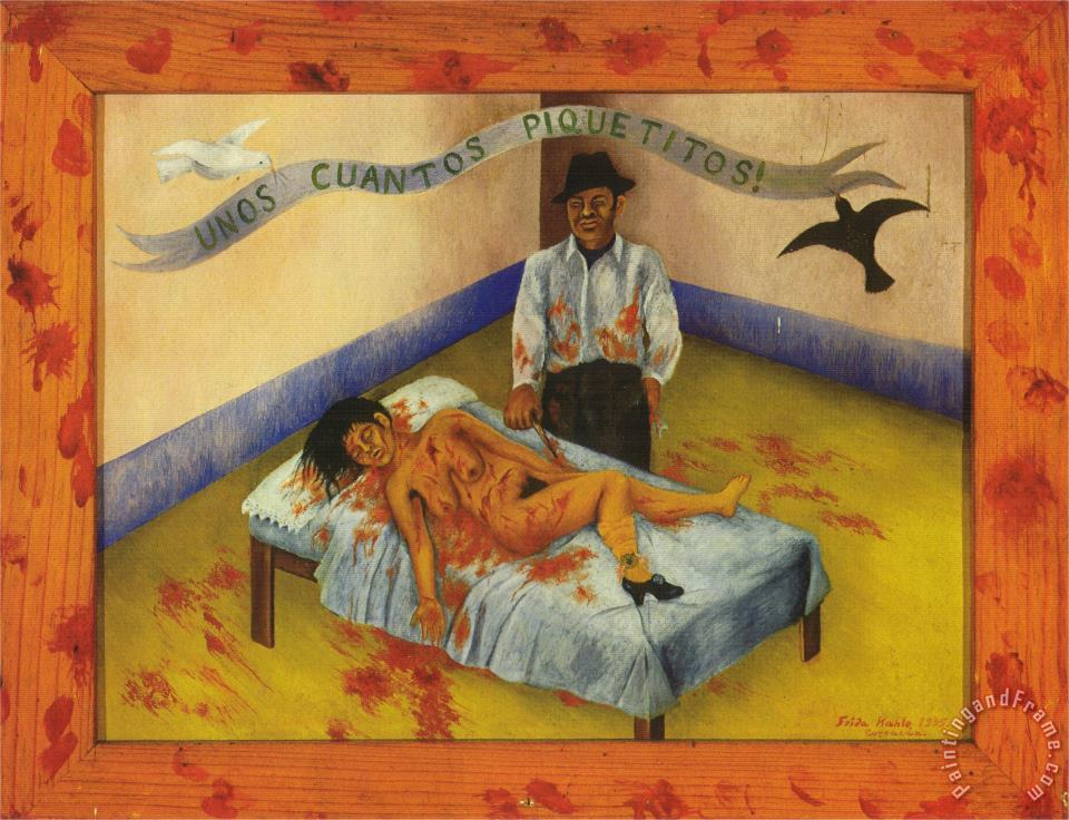 A Few Small Nips Passionately in Love 1935 painting - Frida Kahlo A Few Small Nips Passionately in Love 1935 Art Print