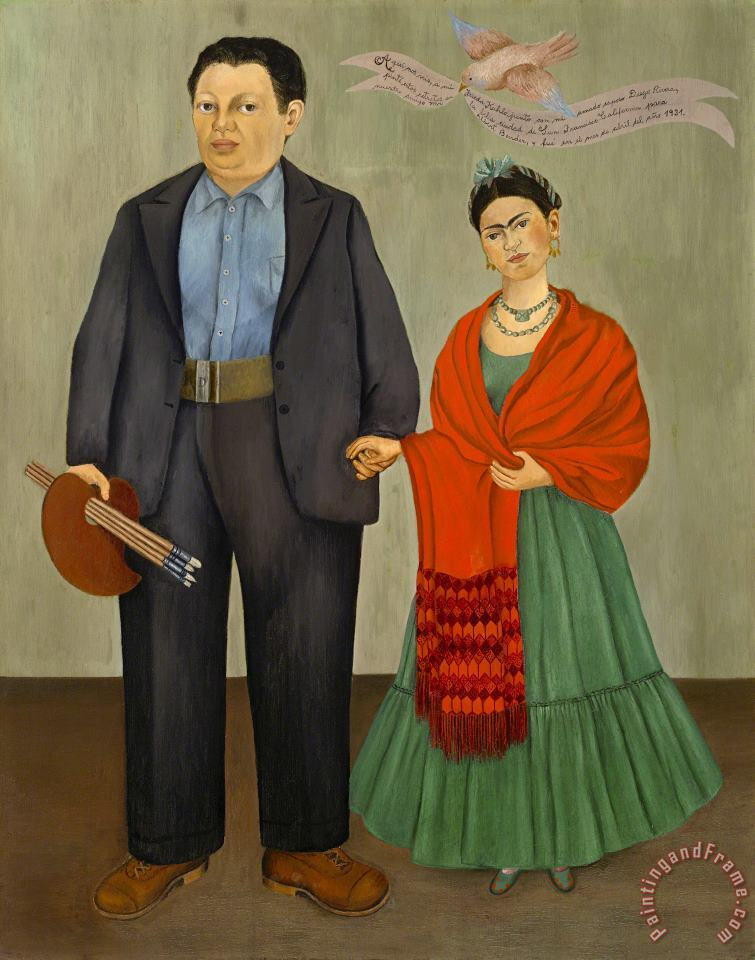 Frieda And Diego Rivera 1931 painting - Frida Kahlo Frieda And Diego Rivera 1931 Art Print