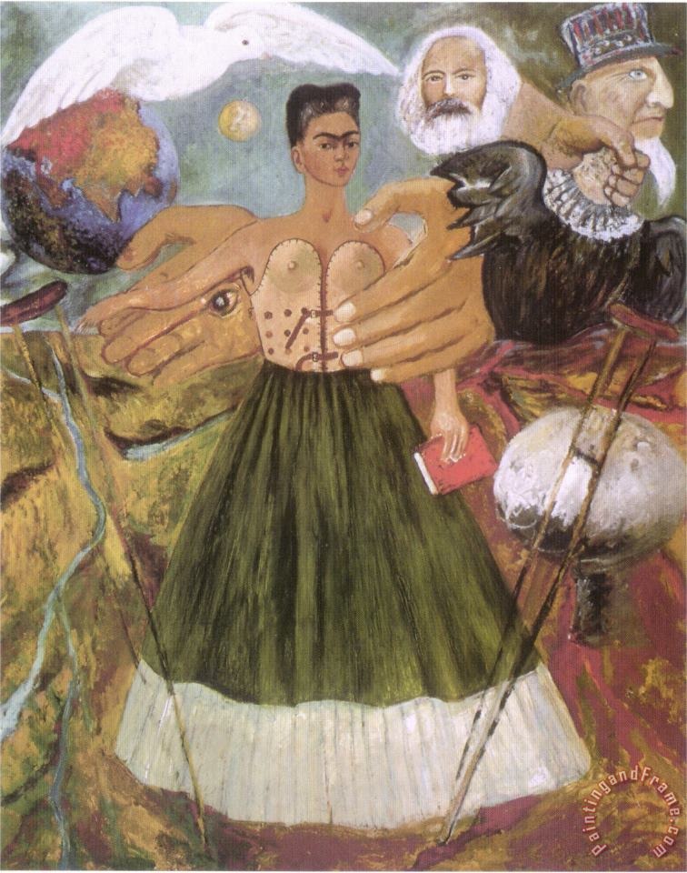 Marxism Will Give Health to The Sick 1954 painting - Frida Kahlo Marxism Will Give Health to The Sick 1954 Art Print