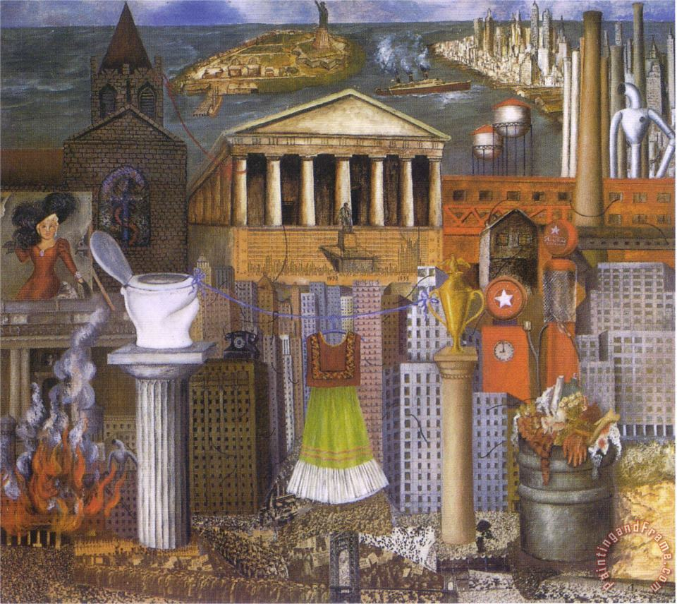 My Dress Hangs There 1933 painting - Frida Kahlo My Dress Hangs There 1933 Art Print