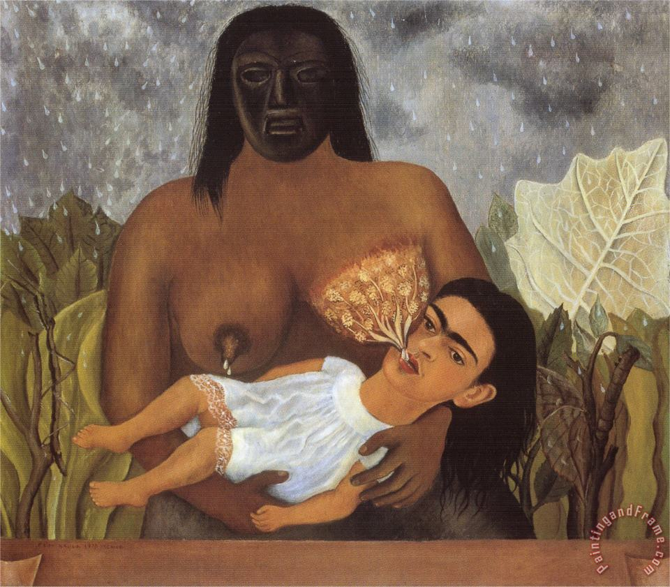 My Nurse And I 1937 painting - Frida Kahlo My Nurse And I 1937 Art Print