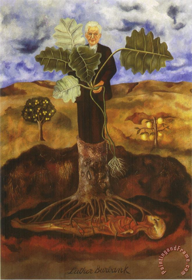 Portrait of Luther Burbank 1931 painting - Frida Kahlo Portrait of Luther Burbank 1931 Art Print
